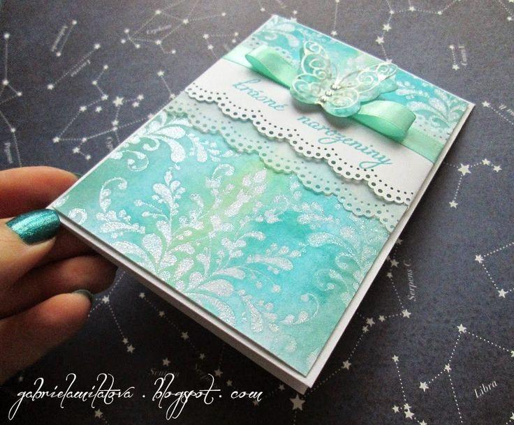 Gabi M. craftuje: {TUTORIALS& GIFTS} Ombre Cards: Jedna barva, dva styly :)