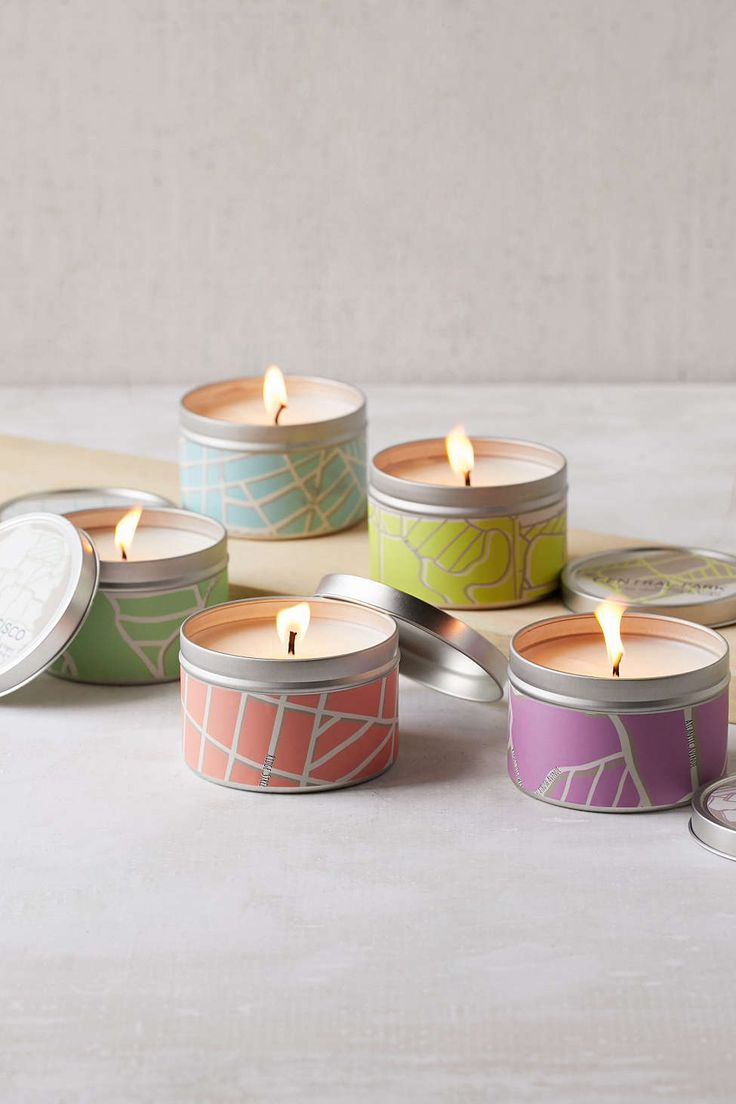 City Scapes Tin Candle - Urban Outfitters