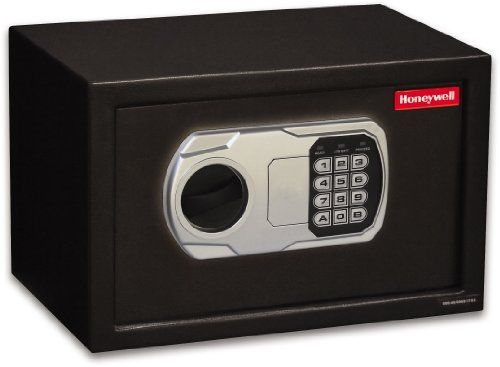Honeywell 5101DOJ 0.31 Cubic Feet DOJ-Approved Steel Security Safe with Digital Lock, Black by Honeywell. $69.99. From the Manufacturer                This Honeywell 5101DOJ is a DOJ approved firearms storage device and features a 0.31 Cubic Feet Storage Capacity, Programmable Digital Lock, Bolt Down Capabilities. The Honeywell safe product line provides safety and security for your essential documents and most valuable possessions while affording you the peace of mind that co...