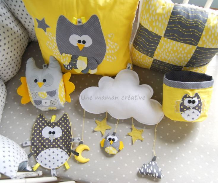 """Couture Hiboux- Blog """"Une maman créative"""""""