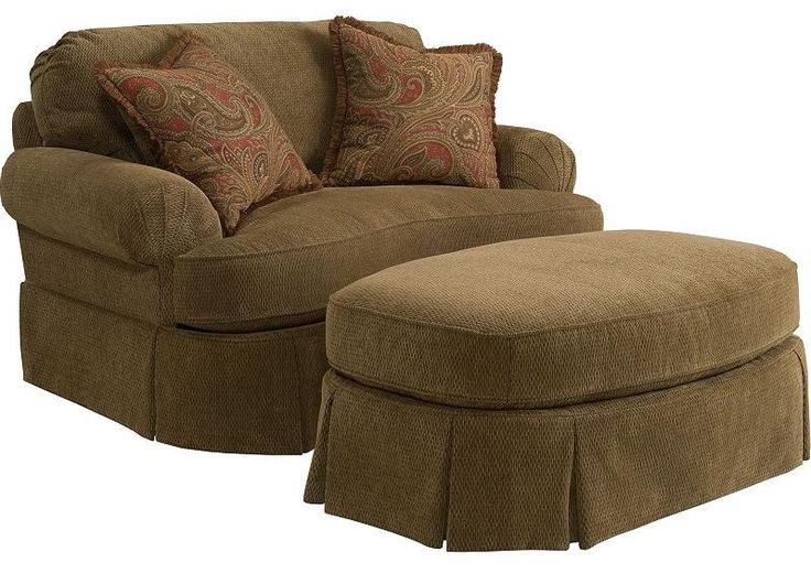 Best Mckinney Chair And 1 2 And Ottoman By Broyhill Express 400 x 300