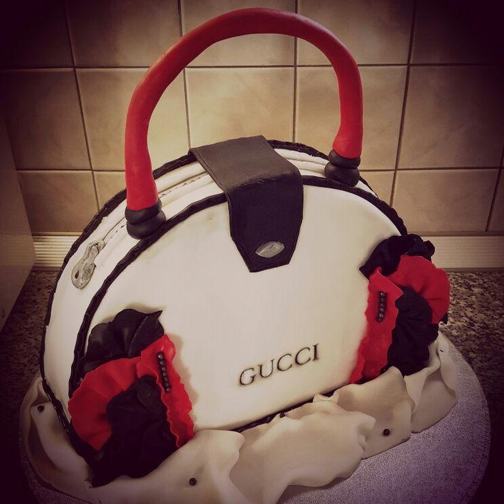 Handbag fondant cake . Happy birthday Elena