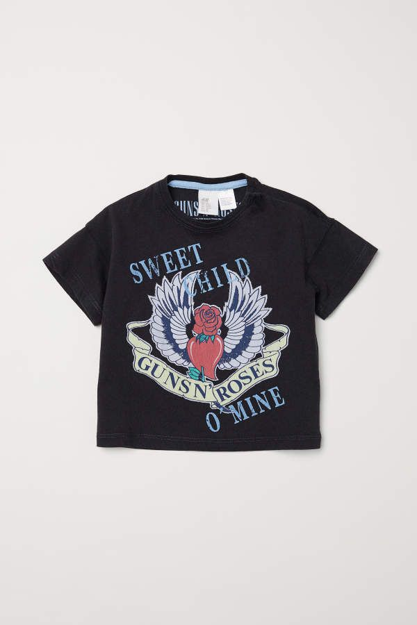 H M H M T Shirt Black Guns N Roses Kids Baby Boy Tops Kids Outfits Shirts