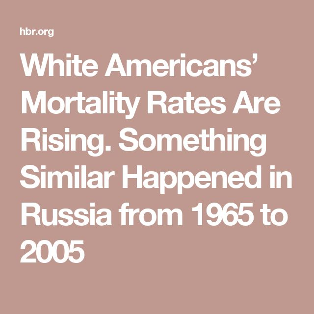 White Americans' Mortality Rates Are Rising. Something Similar Happened in Russia from 1965 to 2005