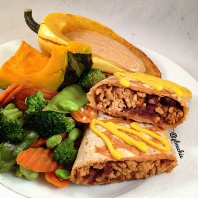 Ripped Recipes - Southwestern Panini - It's just so fun and easy to toast food in a wrap! So versatile and all the flavors meld and become soo flavorful.