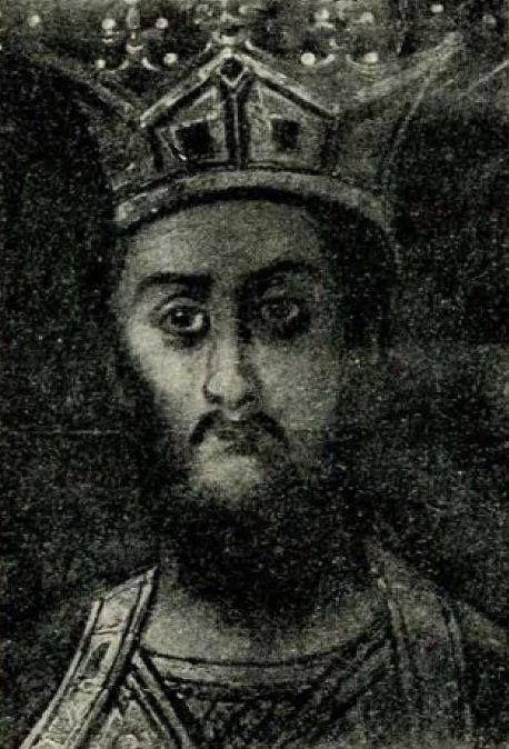 Radu Negru Vodă, copie după Tătărăscu (probabil Gheorghe Tattarescu) din Mânăstirea Curtea de Argeş, 1860.
