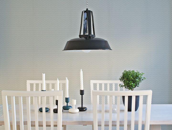 Wallpaper Ypsilon, designed by Arne Jacobsen. - Borås tapeter