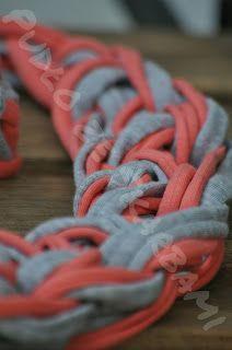 Pudło ze Skarbami - rękodzieło szydełkowe : Pętelkowy komplet bizuterii