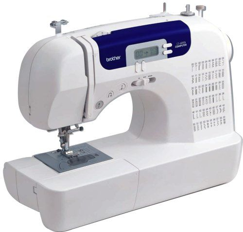 Brother CS6000i Feature-Rich Sewing Machine With 60 Built-In Stitches, 7 styles of 1-Step Auto-Size Buttonholes, Quilting Table, and Hard Cover Brother http://www.amazon.com/dp/B000JQM1DE/ref=cm_sw_r_pi_dp_S-hlvb115SPYE