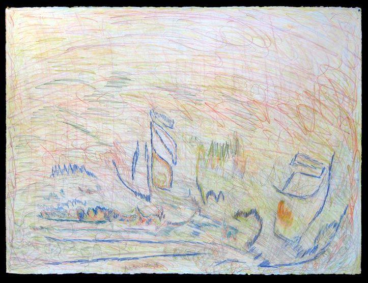 #38   Artist: Alan Hooks   Title: Untitled   Medium: Mixed Medium   Dimensions: 22 1/2 in. x 30 in.