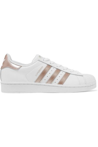 Sole measures approximately 25mm/ 1 inch White and gold leather Lace-up front ImportedMen's sizing indicated on label; please refer to Size & Fit notes for guidance in size selection.