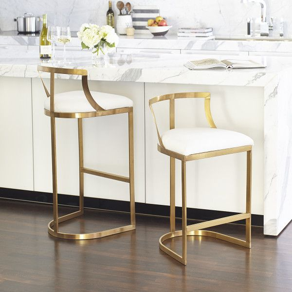 Contemporary Bar Stool Emerson Bar Stool Brass Emerson Bar Stool - Silver Emerson Counter Stool - Si