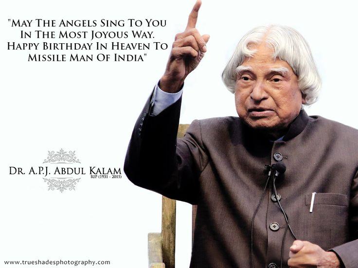 Happy Birthday Dr APJ Abdul Kalam #happybirthday #birthdaywishes #trueshadesphotography #Missileman #Abdulkalam #missilemanofindia #Respect #Salute #Inspiration #expresident  https://www.trueshadesphotography.com/