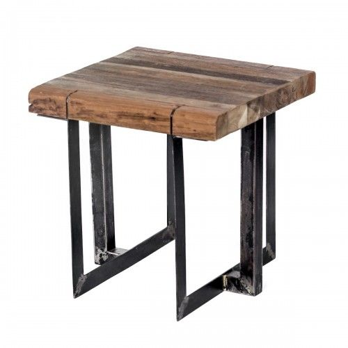 Simboro | meja kayu jati besi dekorasi interior industrial kafe rumah table stool interior design furniture