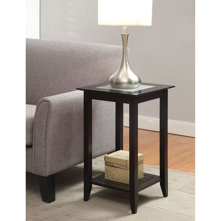 Copper Grove Helena End Table End tables, Glass end