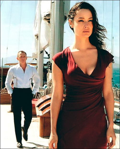 in the movie Casino Royale, Vesper dies wearing a red dress very similar to this. Kinda ironic