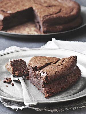 Flourless Chocolate-Almond Torte #recipe -- perfect for #Passover!