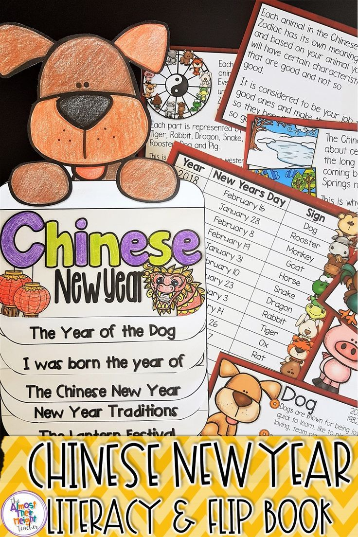 Chinese New Year 2018 is the year of the dog and in this pack has 22 information cards about the celebration and traditions behind Chinese New Year and information cards on the animal signs of the zodiac and the positive and negative aspects of each sign.  They can then show their learning through crafting a flip book which has options for different grades.  Grab a copy for your classroom today. #chinesenewyear #celebrations #yearofthedog #chinesenewyear2018 #classroomactivities