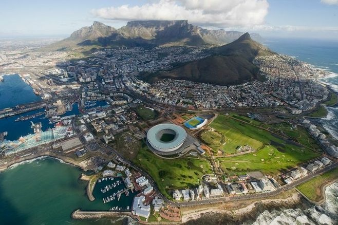 Safarious - Cape Town from a Helicopter / Passage To Africa / Journal