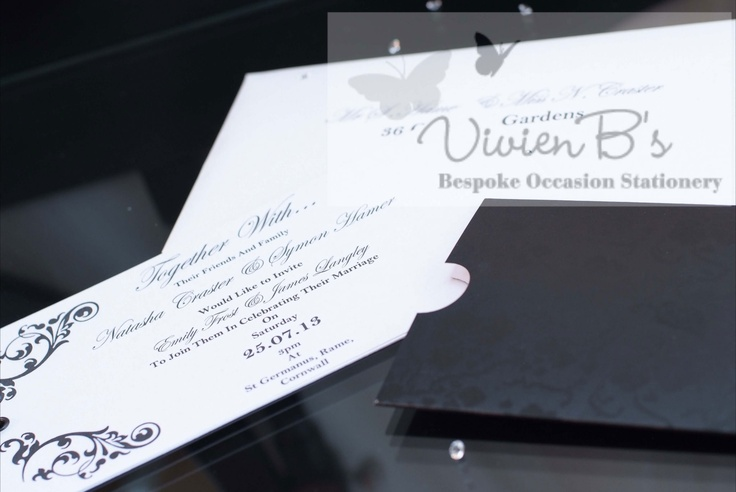 More wedding invitations and wedding stationery designs are also available from VivienB's in thame, oxford, oxfordshire, and are available throughout the United Kingdom, UK, USA, Europe, and worldwide. We would love to hear from you via our website www.vivienbs.com