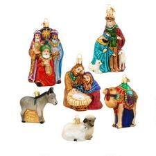 Set Of 6 Old World Christmas Nativity Ornaments