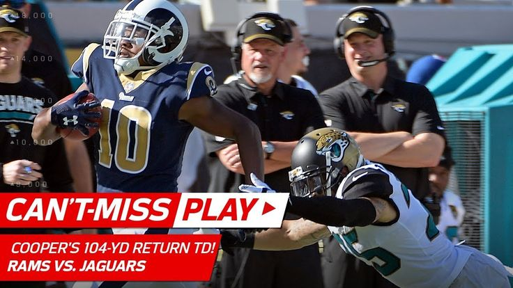 awesome Pharoh Cooper's 104-Yd Kick Return TD! | Can't-Miss Play | NFL Wk 6 Highlights