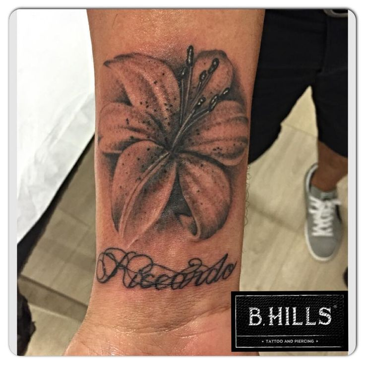 #Realistic #Lilies #Tattoo #ink #art #lettering #calligraphy #blackandgrey #tattooartist #ladyoktopus