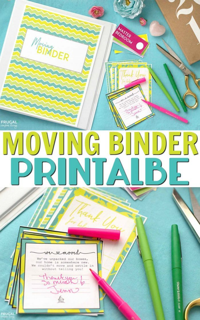 FREE Moving Binder Printable on Frugal Coupon Living. Free Moving Labels too and our top Moving Tips and Hacks.
