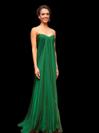 Robe de soiree longue vert emeraude