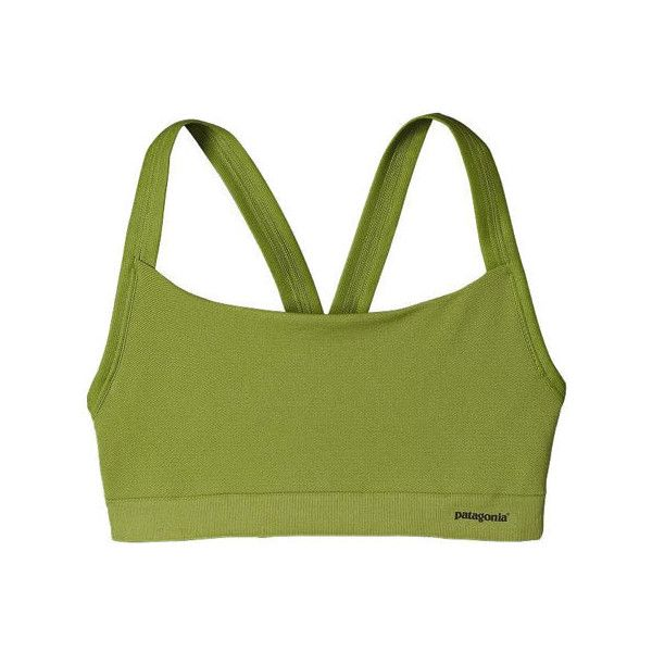 Women's Patagonia Active Mesh Bra ($39) ❤ liked on Polyvore featuring activewear, sports bras, athletic shirts, patagonia shirts, sports shirts, sports bra and green sports bra