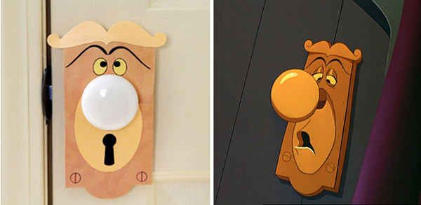 Turn an ordinary doorknob into the one from Alice in Wonderland.