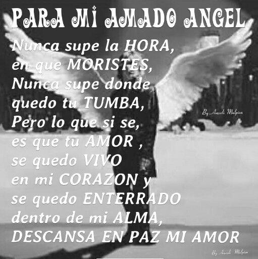 DEDICATORIA En Memoria de mi Amado Esposo que falleció el 22 de noviembre ,1990, el fue mi ángel que llego a mi vida cuando mas lo necesitaba,  Descanse  En Paz