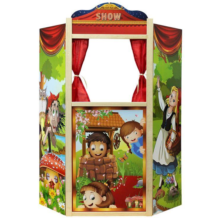 Kaufladen Holz Puppentheater ~ Puppentheater Kasperletheater Kaspertheater 97x60x25cm aus Holz