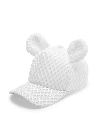 Net Şablon Sevimli Kulaklı Beyzbol Şapkası