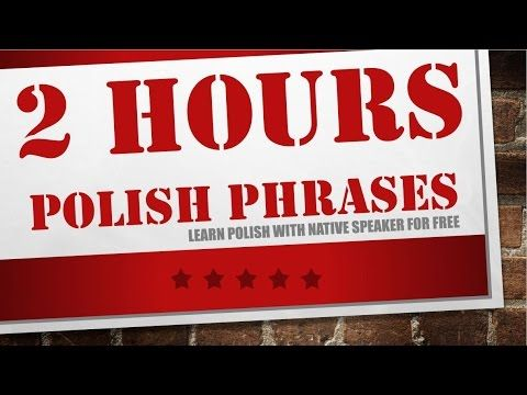 Learn Polish while you sleep - 2 hours of Polish phrases for beginners - YouTube