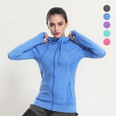 Women Yoga Jacket  This Women Yoga Jacket is made of nylon material and it is knitted. It, anti-shrink is quick-drying, breathable, wind proof and anti-pilling. It fits true to size. Hence, please choose your normal size.