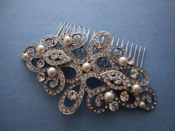 Bridal Hairstyles For Long Hair Indian of Bridal Hair Comb Cheap; Wedding Crashe