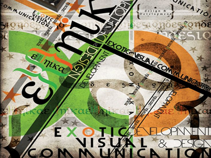 Corporate ID, Exonika, Typography Branding.