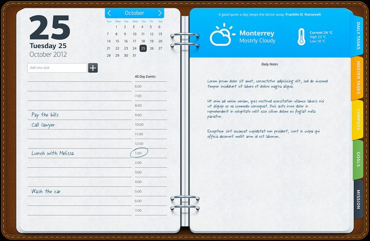 Opus Domini application - the planner tool design by http://dribbble.com/Artua Opus_one_screen