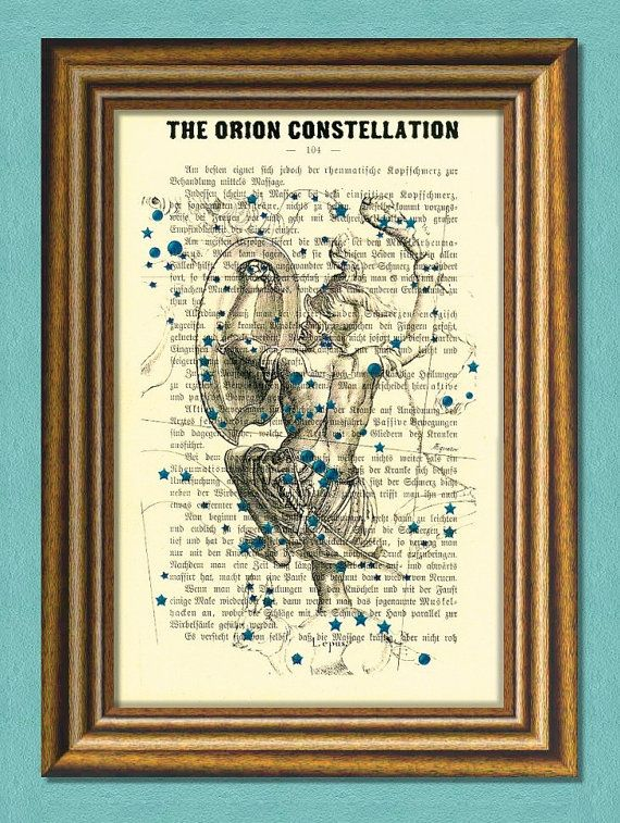 The ORION CONSTELLATION  The HUNTER  by littlevintagechest on Etsy, $7.99