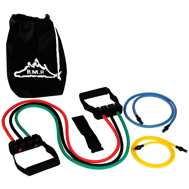 Resistance Band Set with Door Anchor, Ankle Strap & Exercise Chart