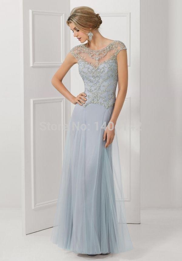 См . лотковые декольте тюль с бисером короткие рукава длинные формальные ну вечеринку платья мать невесты платья vestido де madrinha
