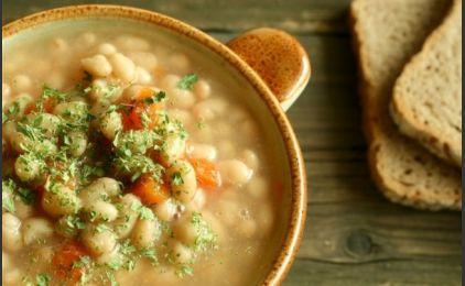 Рецепт постного супа из белой фасоли (греческая кухня)