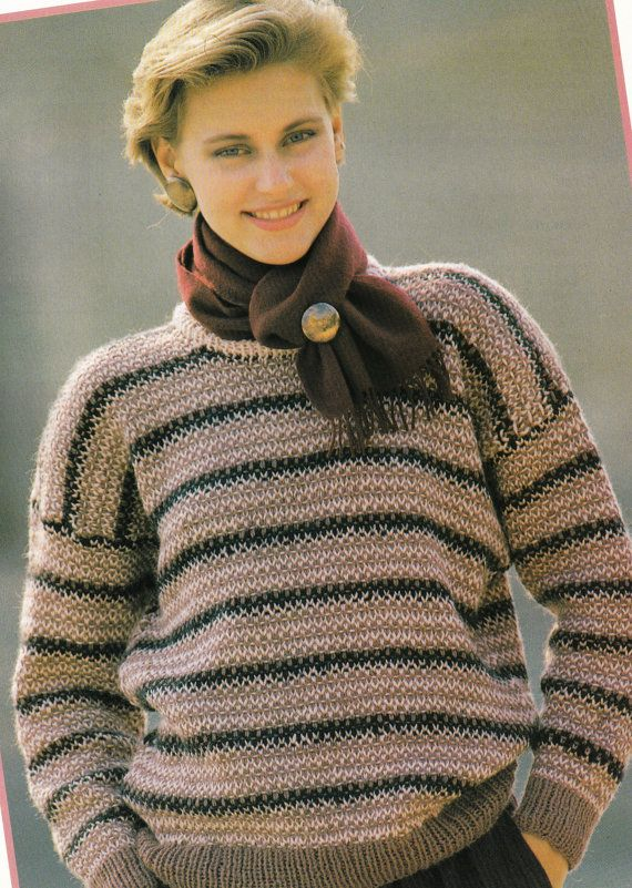 Ladies Jumper Knitting Patterns : 159 best images about Digital Knitting & Crochet Patterns Vintage PDF on ...
