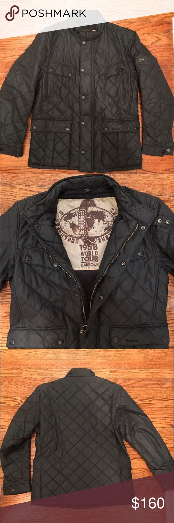 NEW YEARS EVE SALE!!! Barbour international jacket My husband wore this once - perfect condition Barbour Jackets & Coats