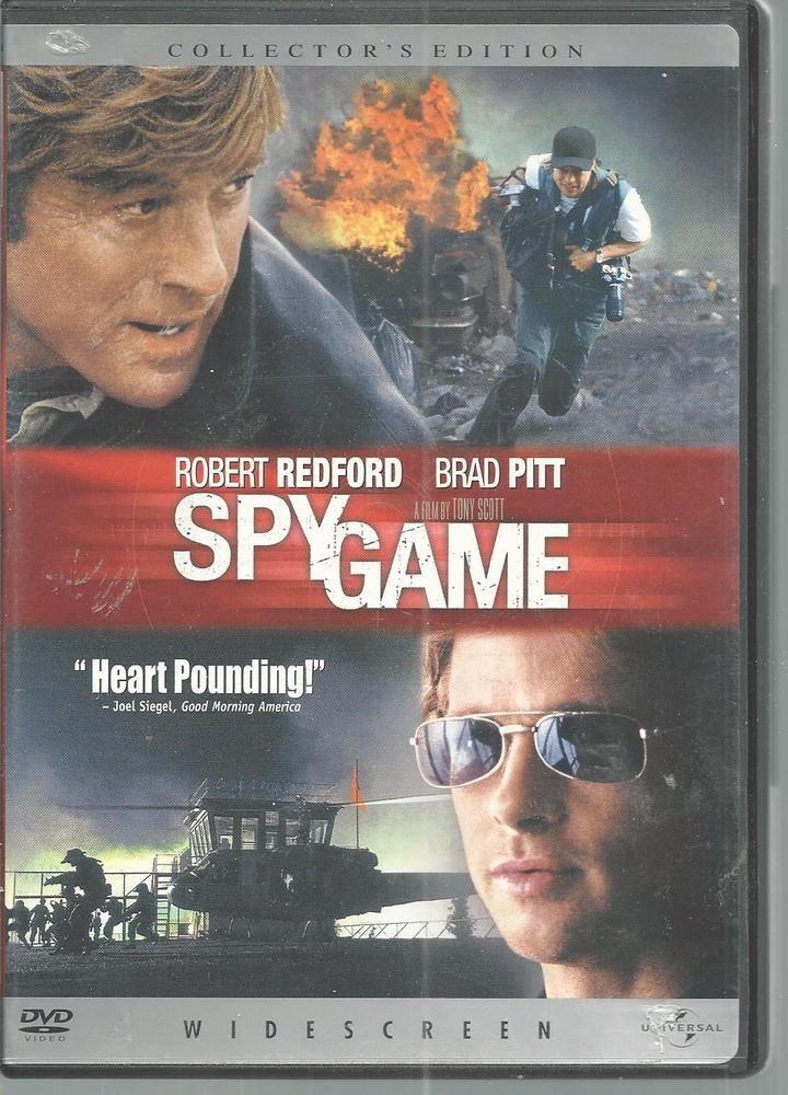 DVD Robert Redford Brad Pitt Spy Game Catherine McCormack Stephen Dillane 2002 #Universal