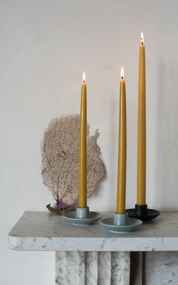 Simple but stylish candle holders in three different matt glaze options made from Earthenware in Stoke on Trent