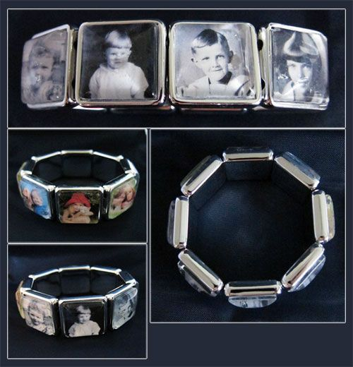 Super easy vintage glass photo bracelet