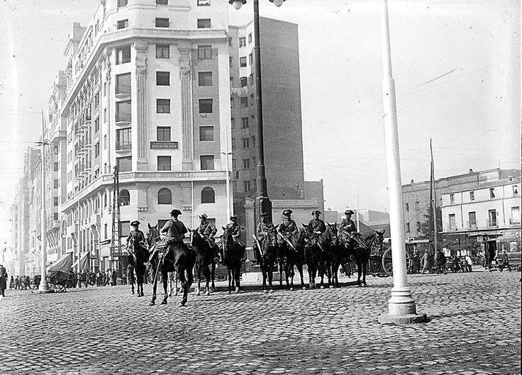 Madrid , Glorieta de Cuatro Caminos, año 1934