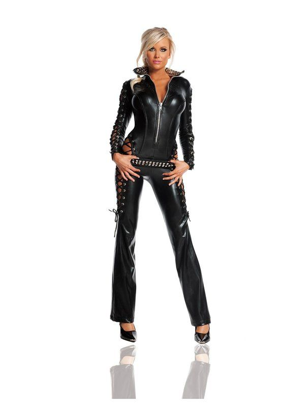 Deluxe Sexy Rebel Womens Catsuit Costume